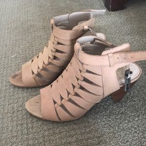 Vince Camuto tan leather Edita Cage sandals